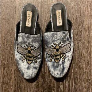 Steve Madden Bee Loafers Grey Women's 8.5